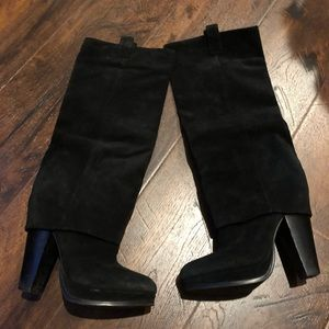 Ash eden black tall boots